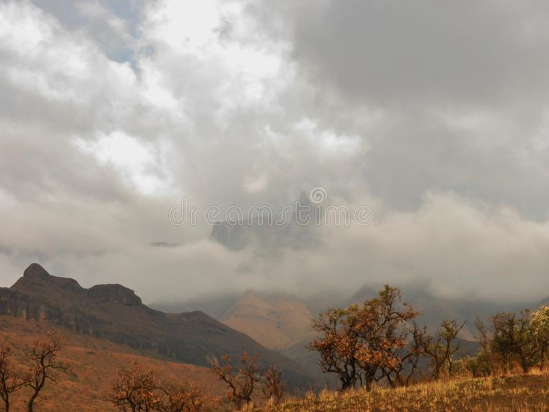 Région sauvage de Drakensberg photo libre de droits