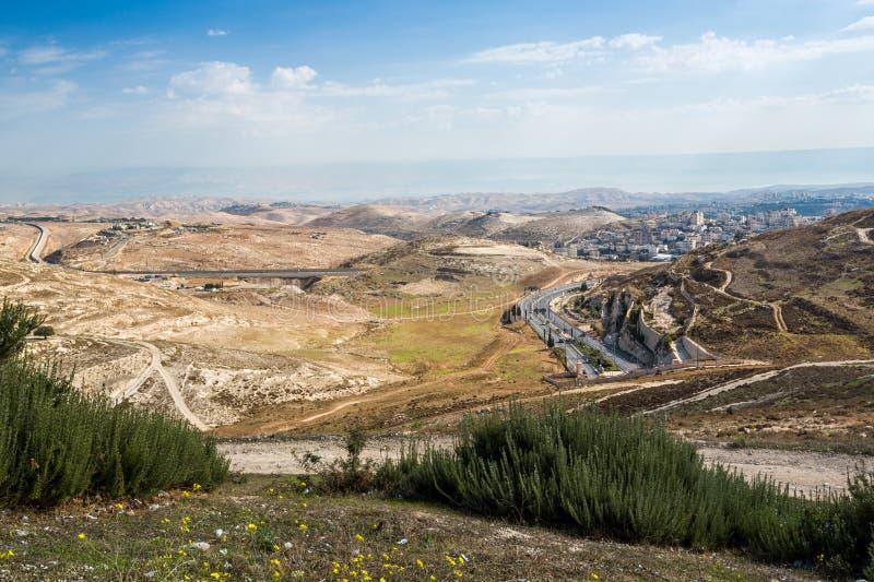 Région sauvage de Judah, Israël photos stock