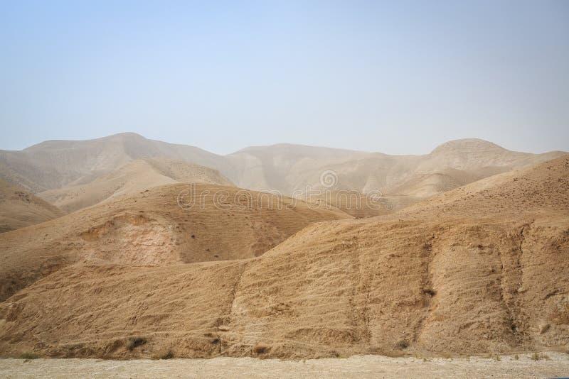 Région sauvage de Judah, Israël images libres de droits