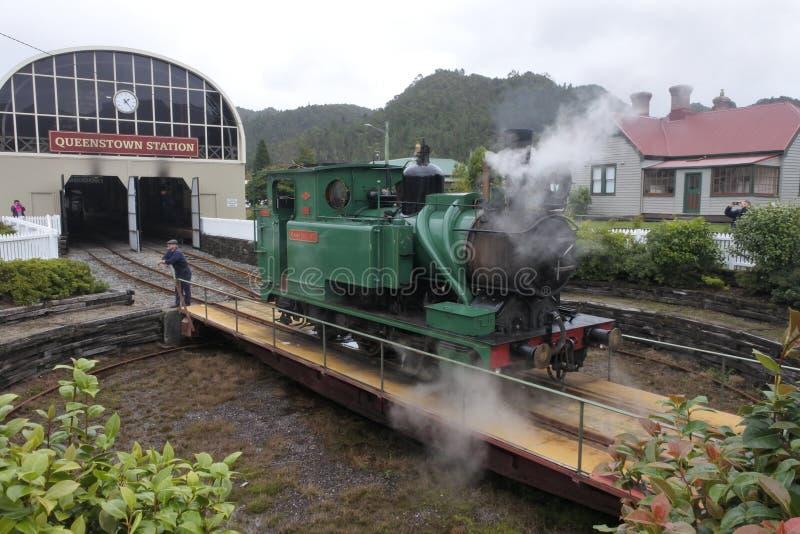 Région sauvage Tasmanie ferroviaire Australie de côte ouest de la Tasmanie photographie stock