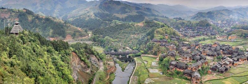 Région scénique de pont en vent et en pluie de Chengyang image libre de droits