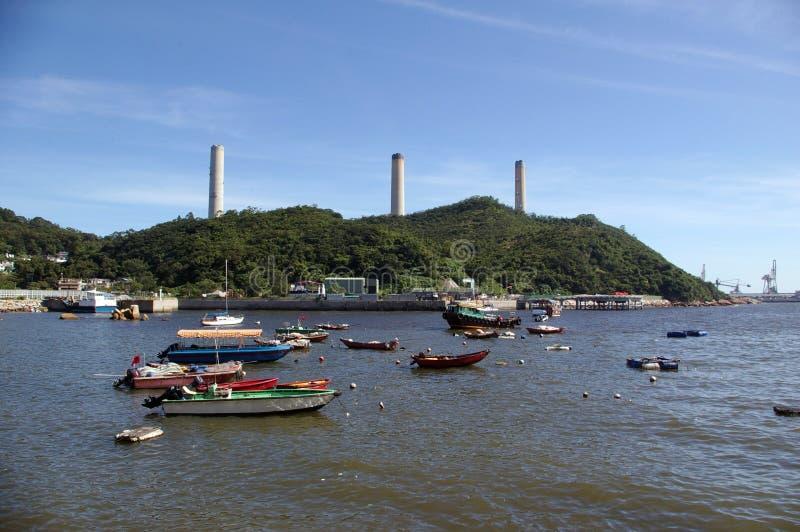 Régions côtières de Hong Kong à l'île de Lamma. images libres de droits