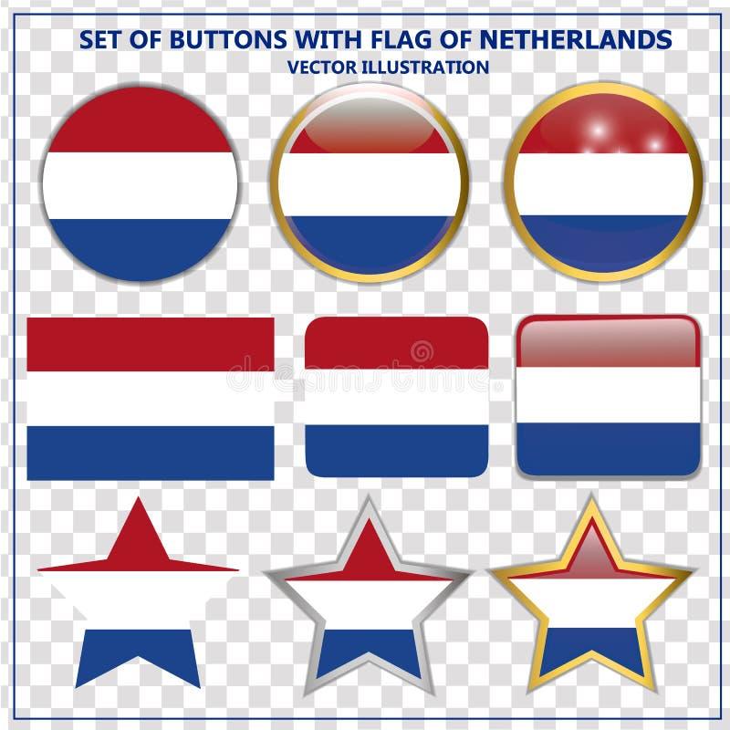 Réglé avec des boutons des Pays-Bas Illustration illustration libre de droits