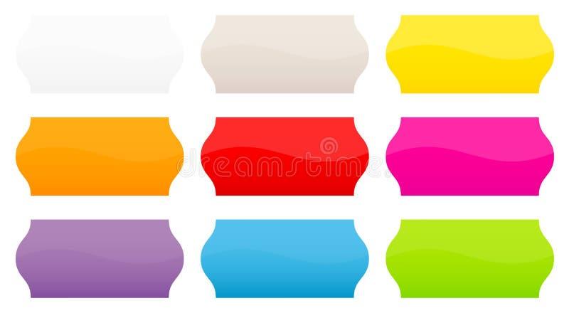 Réglé de neuf prix à payer droits colorés illustration libre de droits