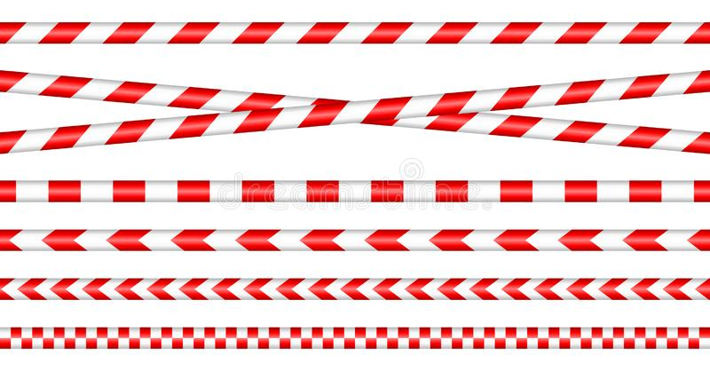 R?gl? des bandes de barri?re rouge/blanc illustration stock
