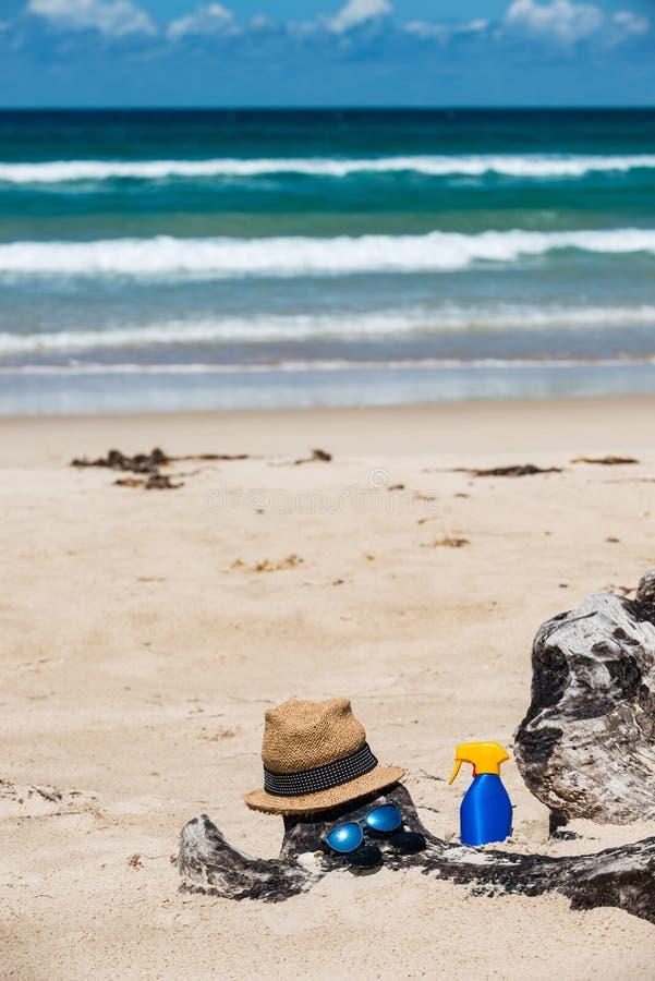 Réglé pour une plage photo libre de droits
