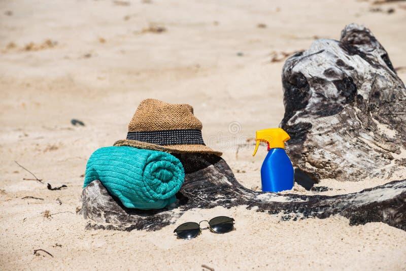 Réglé pour une plage image libre de droits