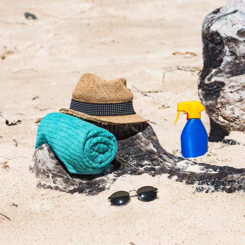 Réglé pour une plage photos stock
