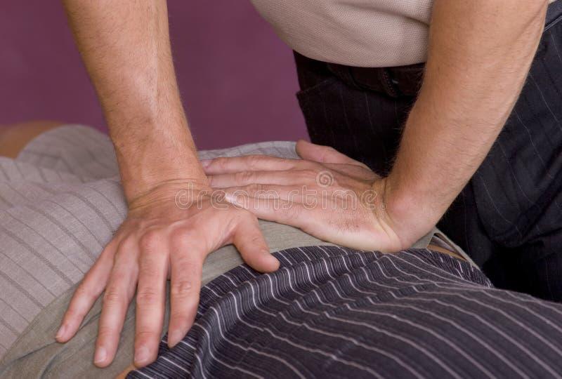 Réglage IV de chiropraxie photo libre de droits