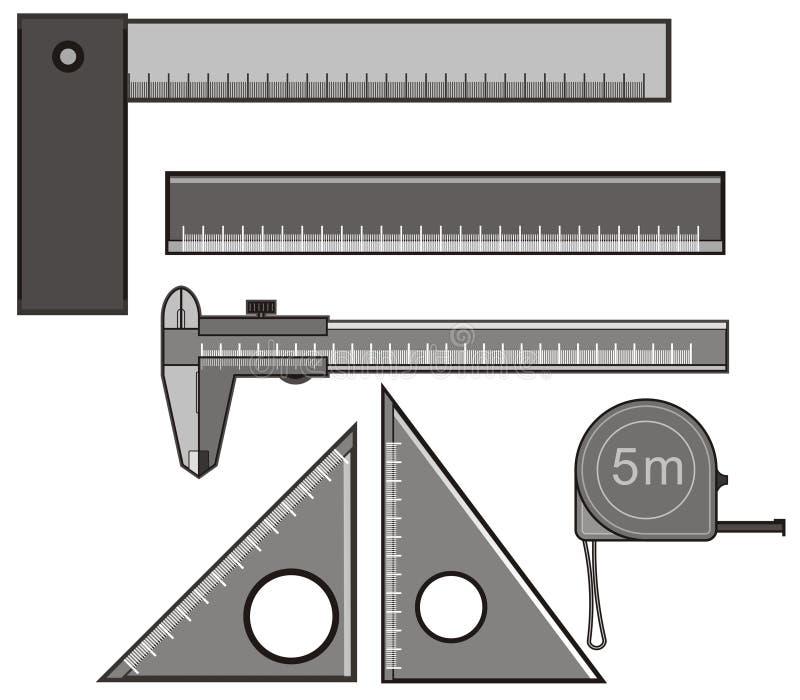 Régua ilustração stock