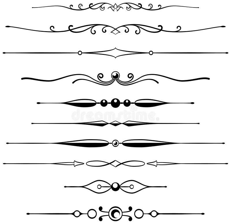 Réguas 4 da página ilustração royalty free