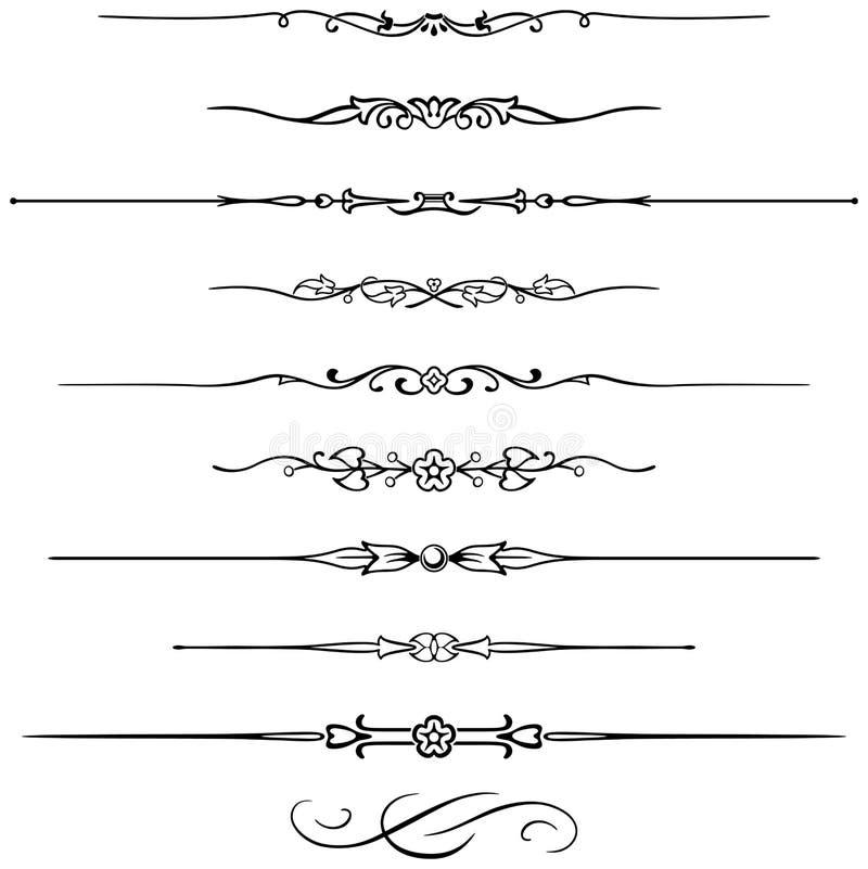Réguas 6 da página ilustração stock