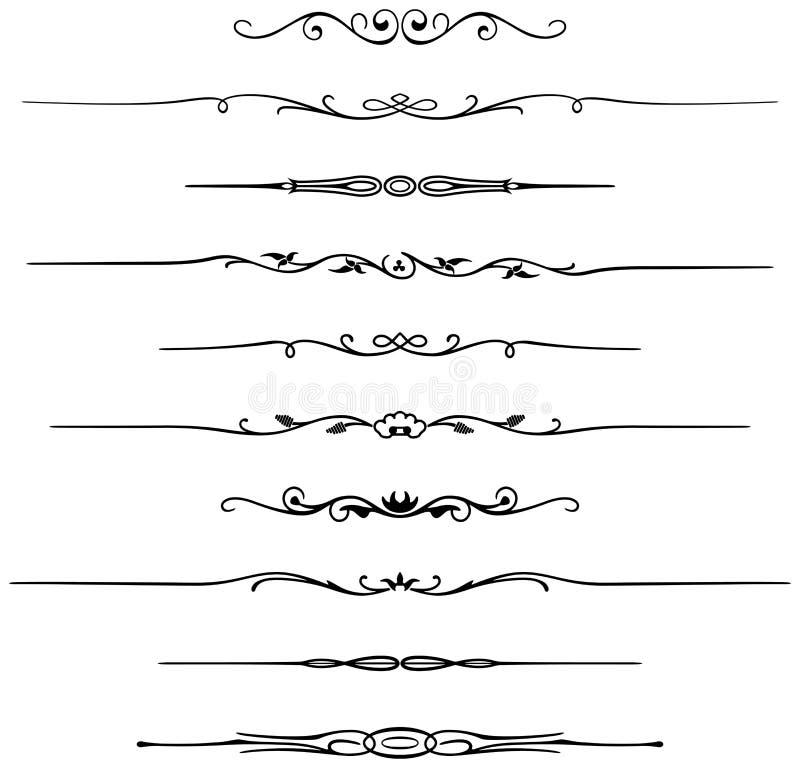 Réguas da página ilustração stock