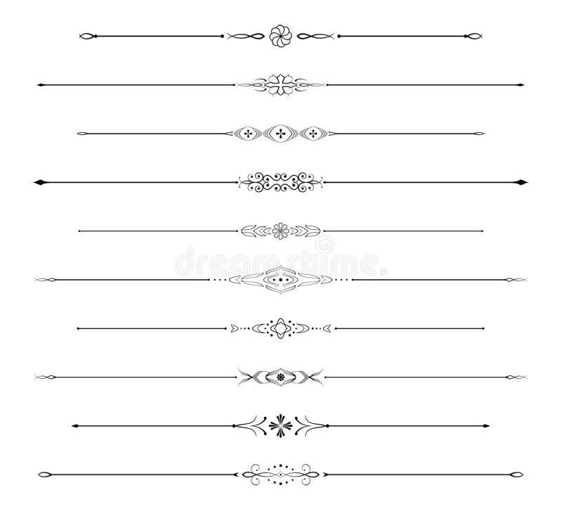 Réguas da página ajustadas ilustração royalty free
