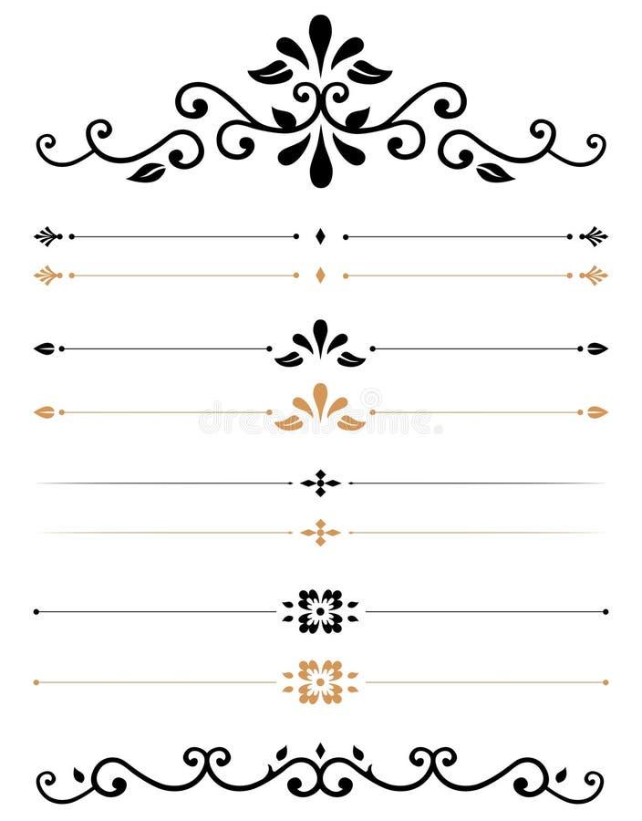 Réguas decorativas ilustração royalty free