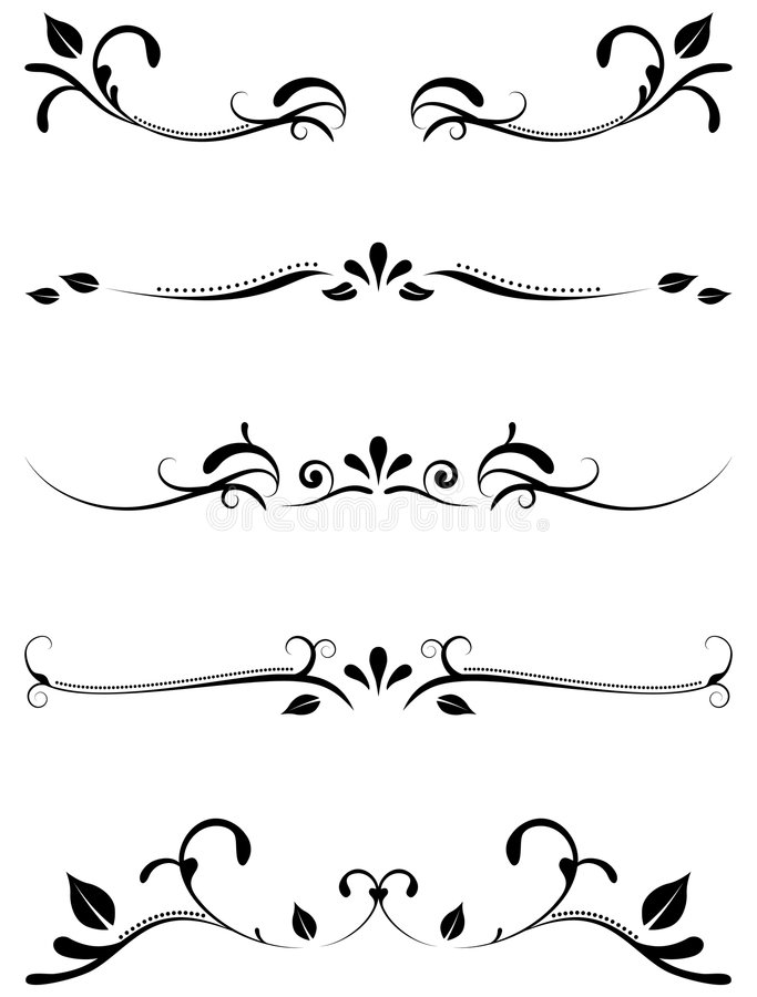 Réguas decorativas decorativas ilustração royalty free