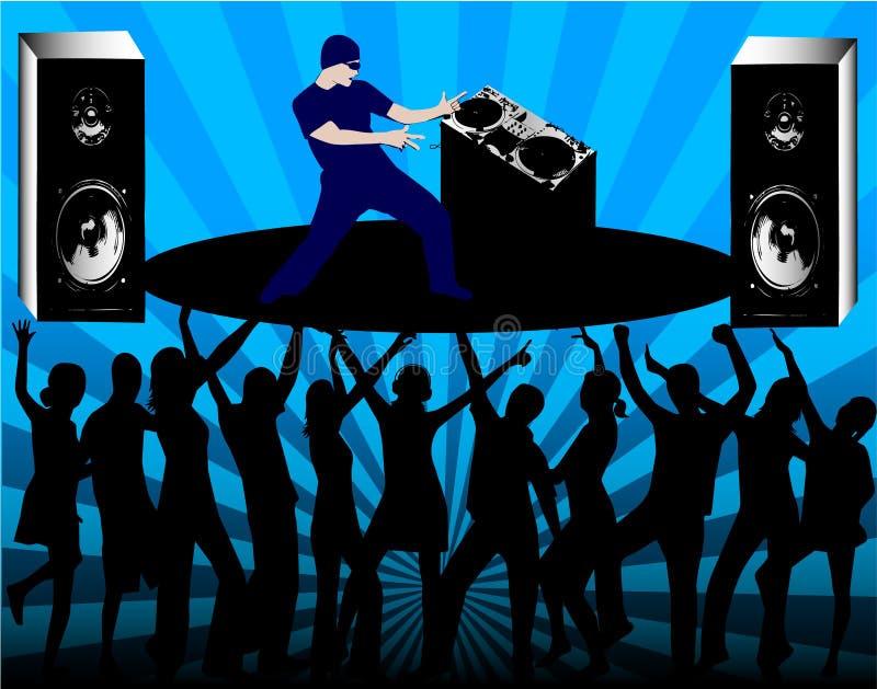 Réguas do DJ ilustração royalty free
