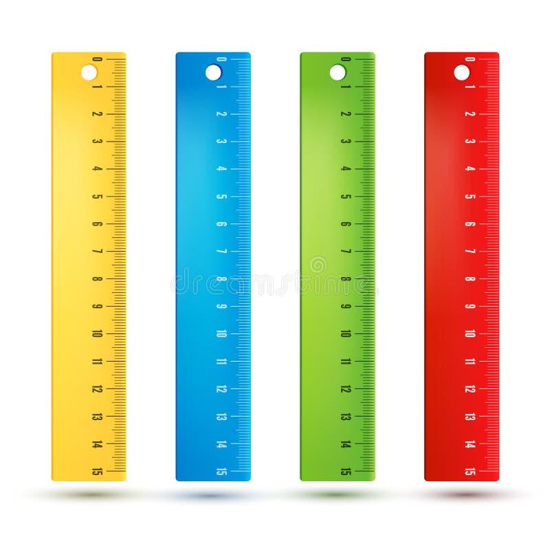 Réguas nos centímetros ilustração do vetor