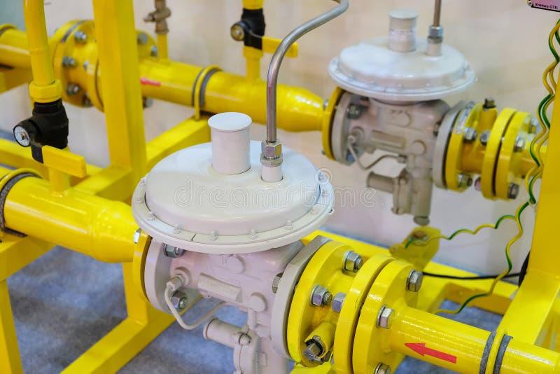 Régulateur de pression de gaz photos stock