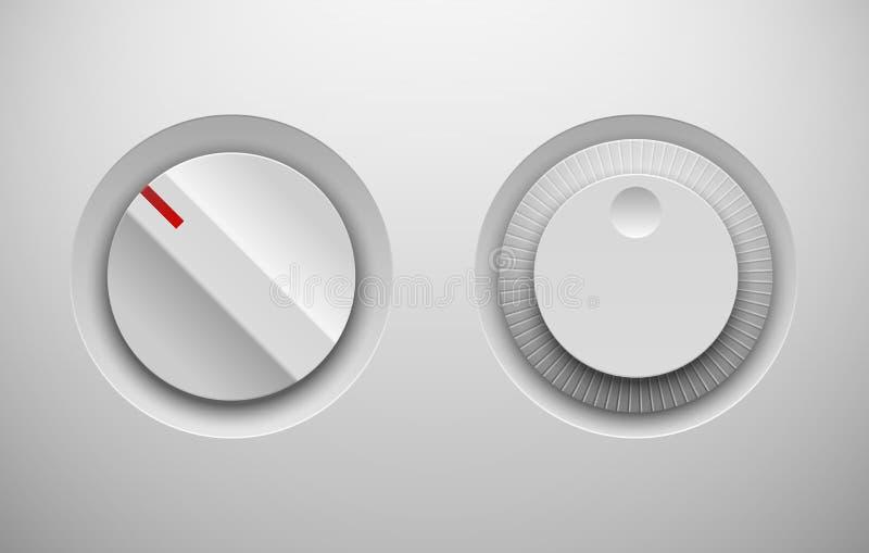 Régulateurs de bouton de commande d'UI illustration de vecteur