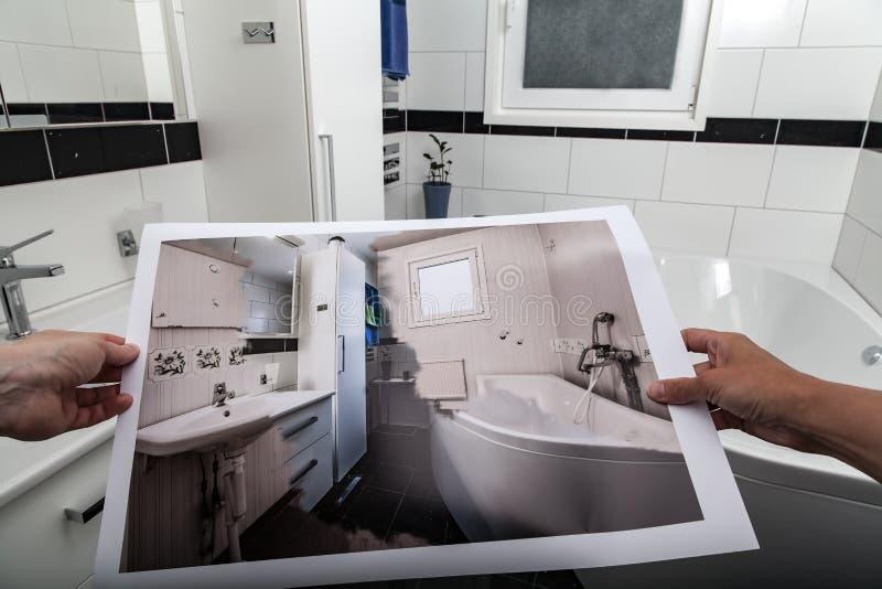 Rénovation de salle de bains image libre de droits