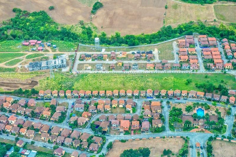 Rénovation de terres agricoles en lotissements aux Philippines photo libre de droits