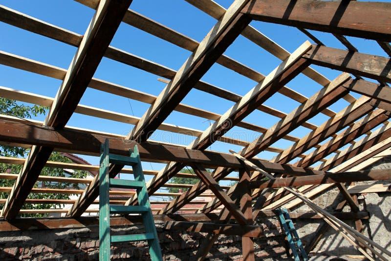Rénovation de toit image libre de droits