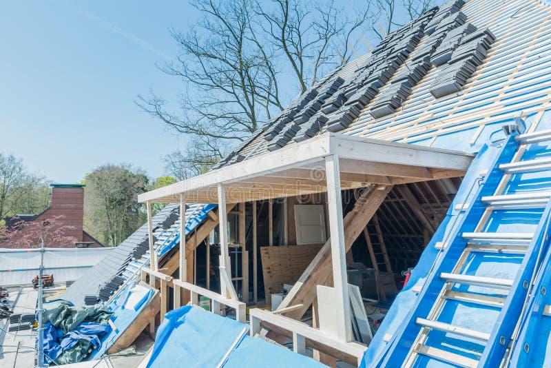 Rénovation et réparation de construction de Chambre photos libres de droits