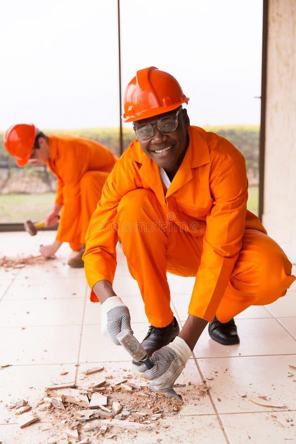 Rénovations de bâtiment de constructeur images libres de droits
