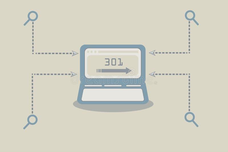 301 réorientent le code de réponse de HTTP illustration stock