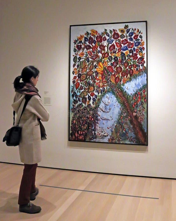Réouverture de MOMA après rénovation photographie stock libre de droits