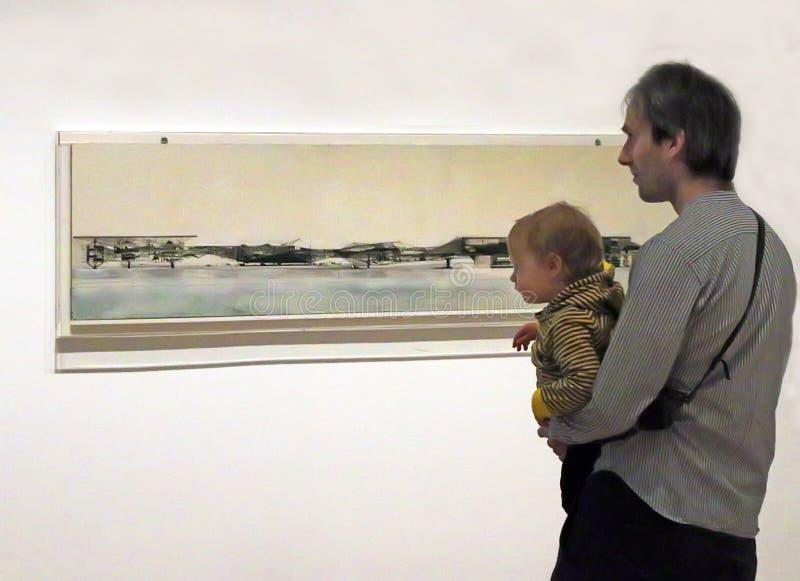 Réouverture de MOMA après rénovation photographie stock