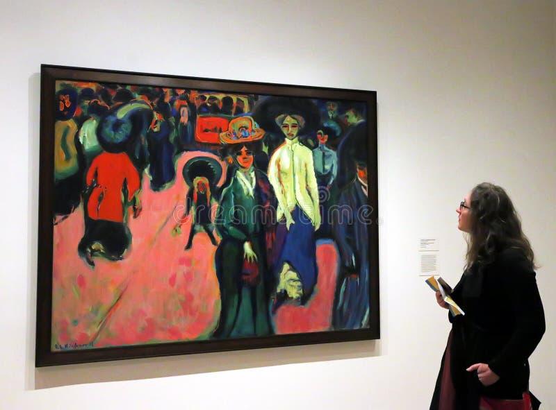 Réouverture de MOMA après rénovation image libre de droits