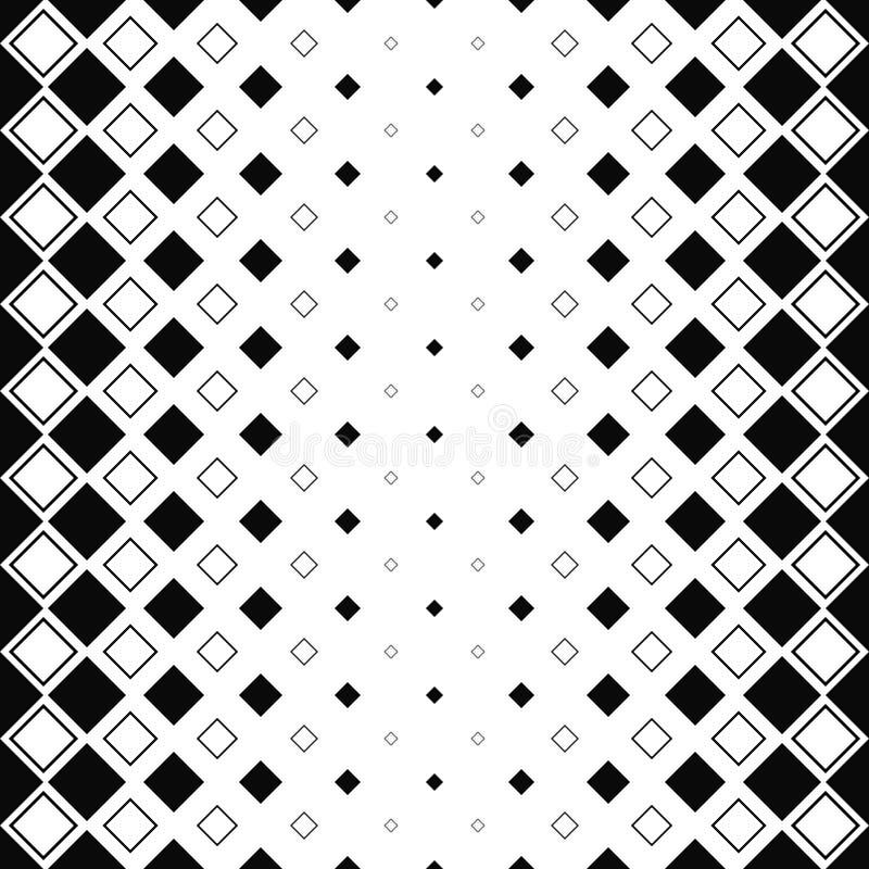 Répétez le modèle carré monochromatique illustration de vecteur