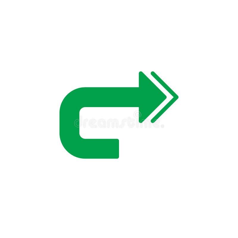 Répétez le vecteur d'icône, signe plat rempli, pictogramme coloré solide d'isolement sur le blanc illustration de vecteur
