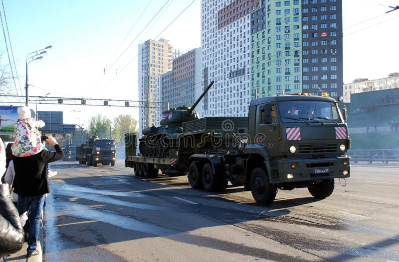 Répétition avant défilé de Victory Day pour le 9 mai photos stock