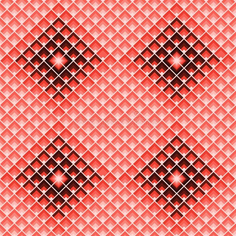 Répétition de places configuration sans joint géométrique Fond de tuile de rectangles illustration stock