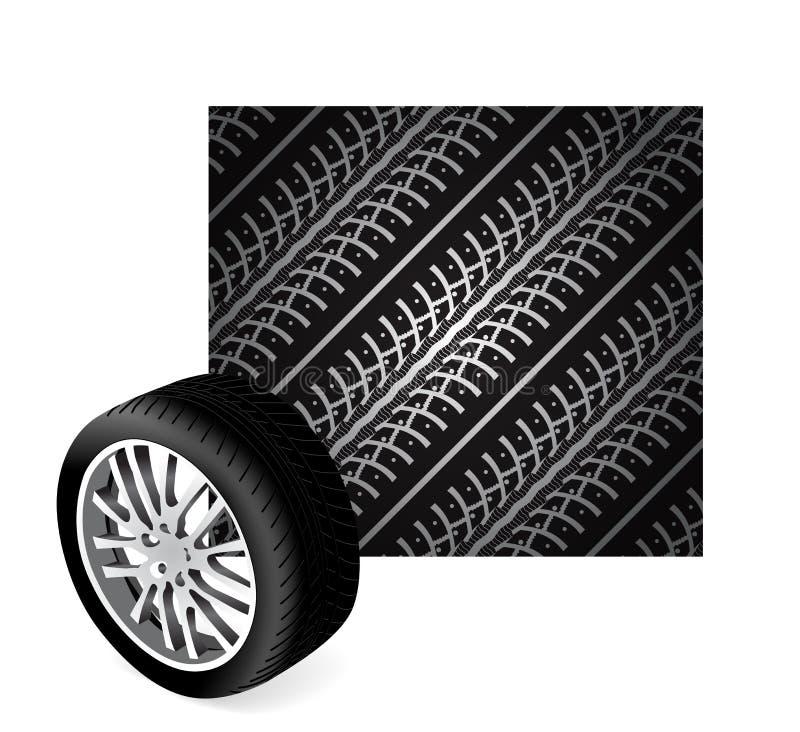 Répétition des pistes de pneu illustration libre de droits