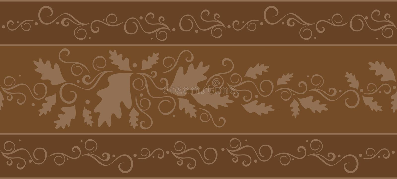 Répétition du drapeau d'automne illustration stock