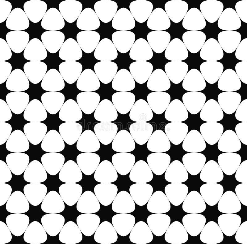 Répétition du profil sous convention astérisque monochrome illustration de vecteur