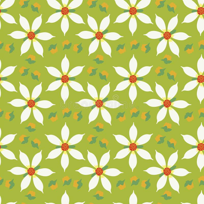 Répétition sans couture Starchild Dahlia Flower illustration libre de droits