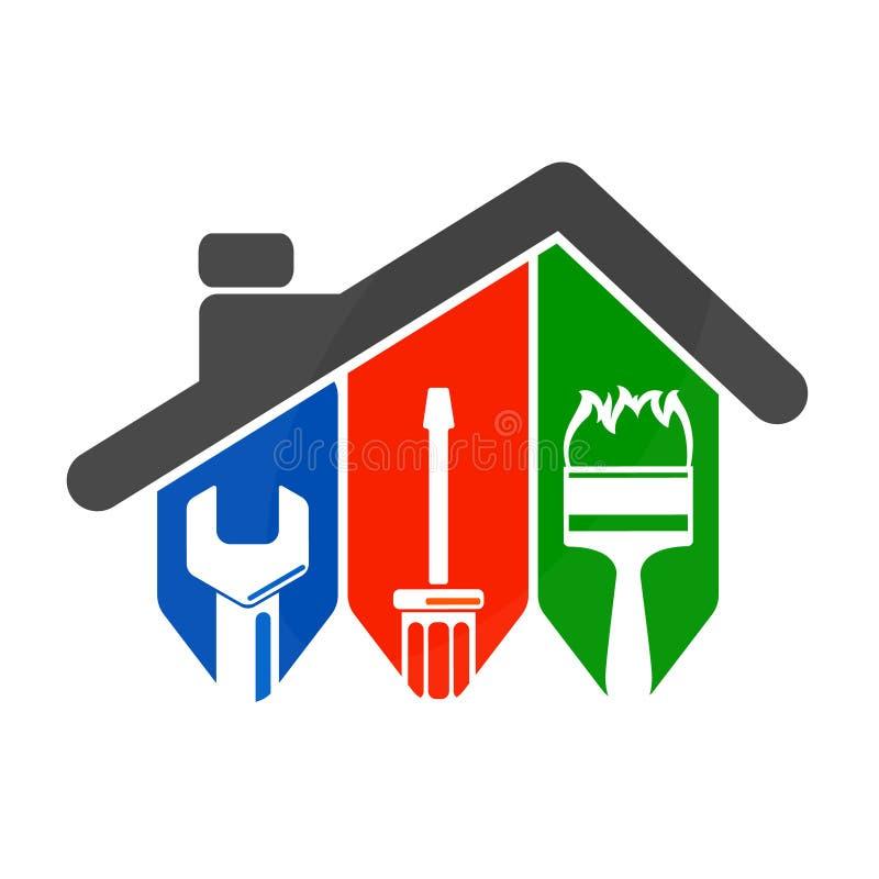 Réparation à la maison avec un outil illustration de vecteur