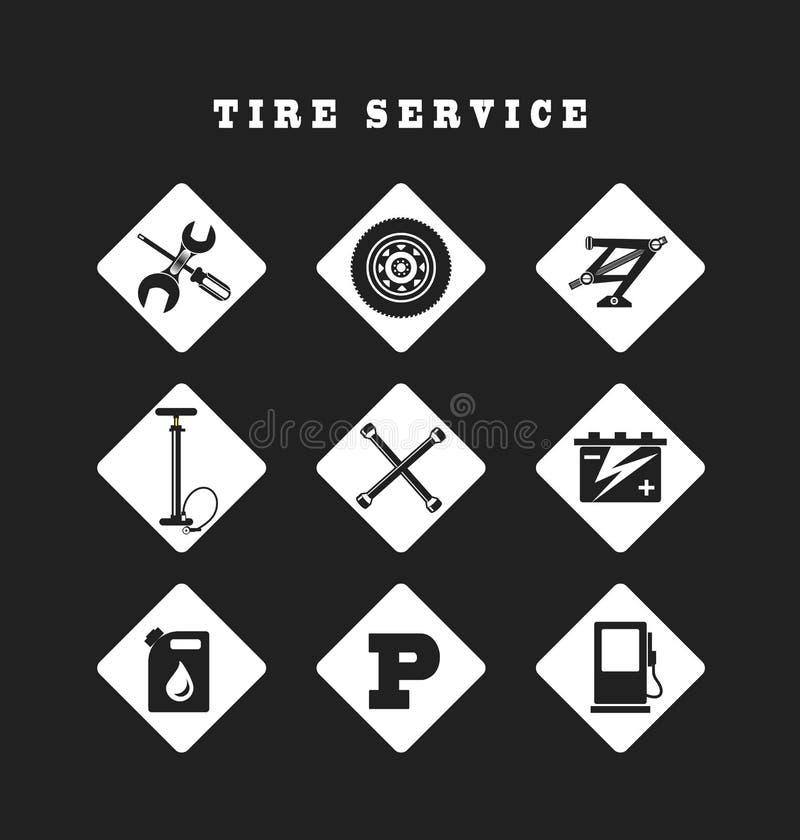 Réparation automatique d'icônes illustration de vecteur
