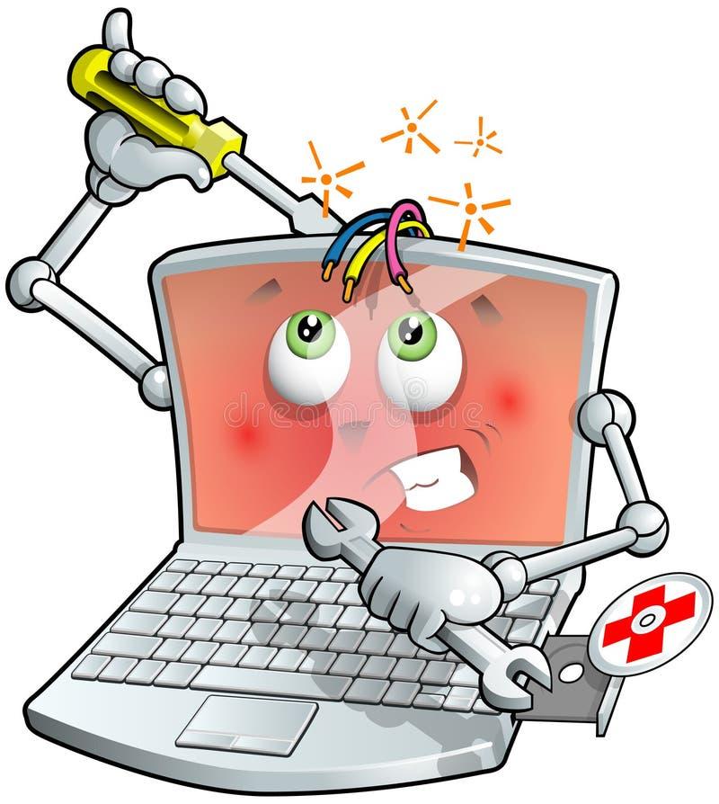 Réparation d'ordinateur portatif illustration stock