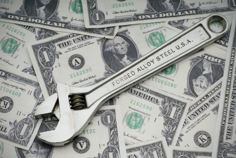 Réparation de l'économie américaine photographie stock