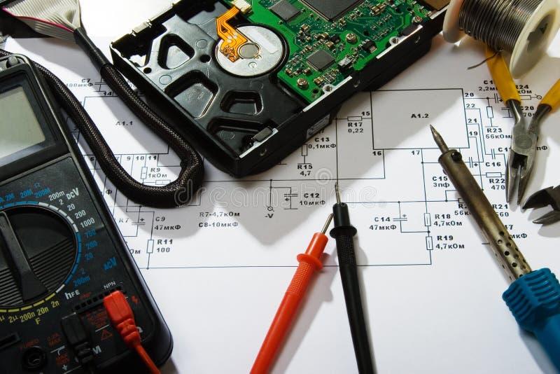 Réparation de l'électronique photo stock