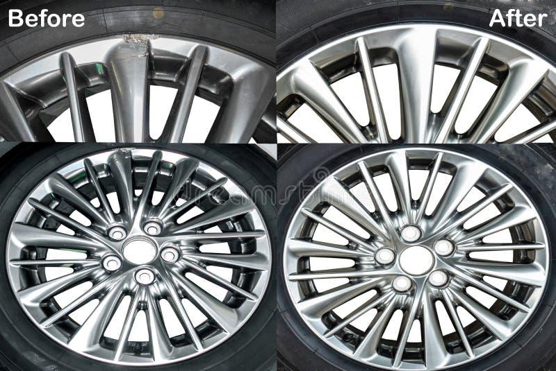 Réparation de roue, couleur hyper de roue images stock