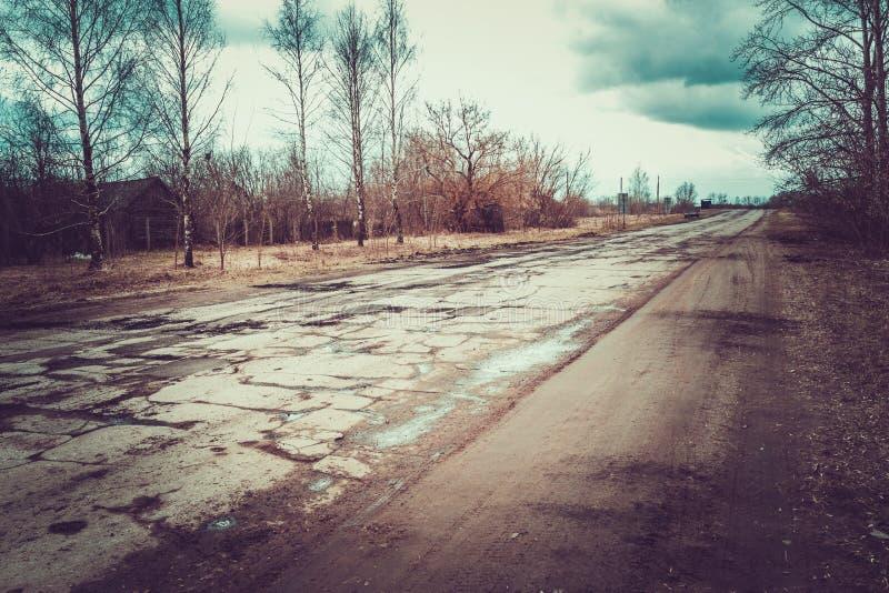 Réparation de route en Russie photographie stock libre de droits