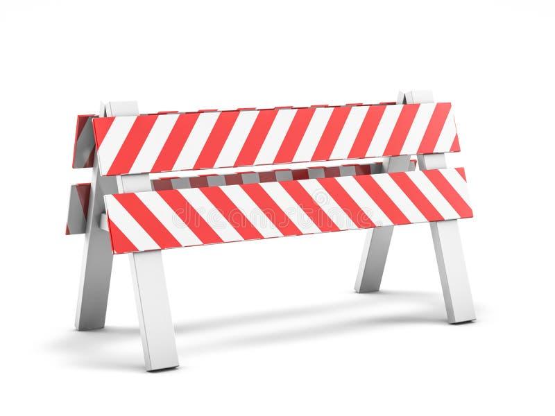 Réparation de route, panneau routier en construction 3d illustration libre de droits