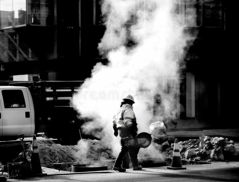 Réparation de rue photographie stock
